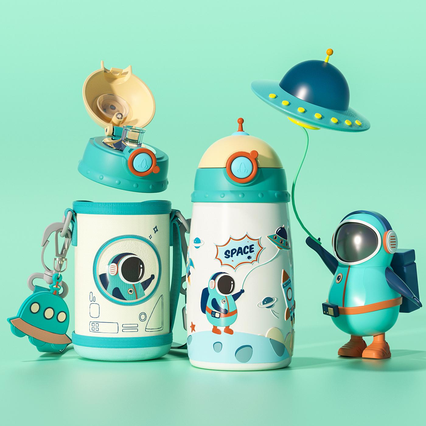 儿童水杯,太空,安全儿童保温杯,