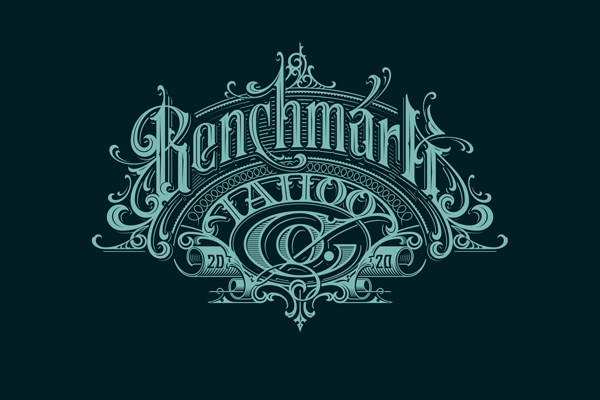 Martin Schmetzer复古华丽风格的字体设计