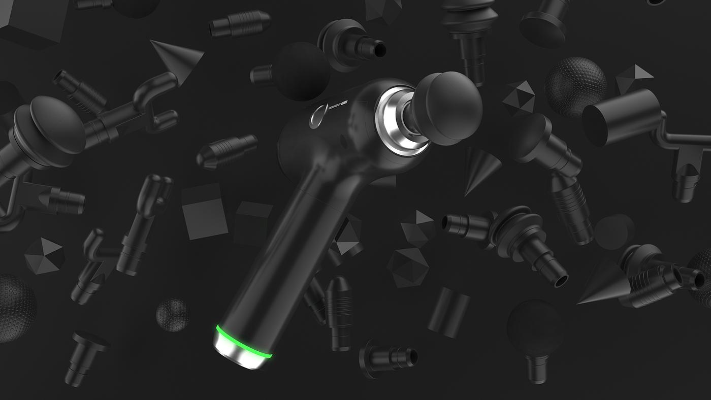 三维创意视频,产品展示,筋膜枪,产品动画,