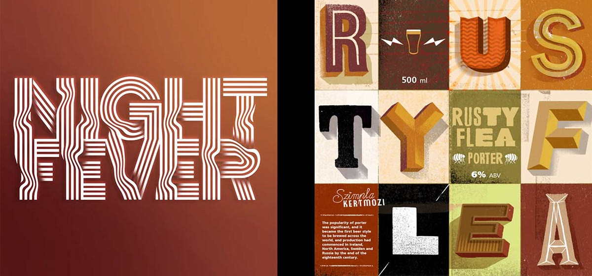 Robinson Cursor创意字体字形设计