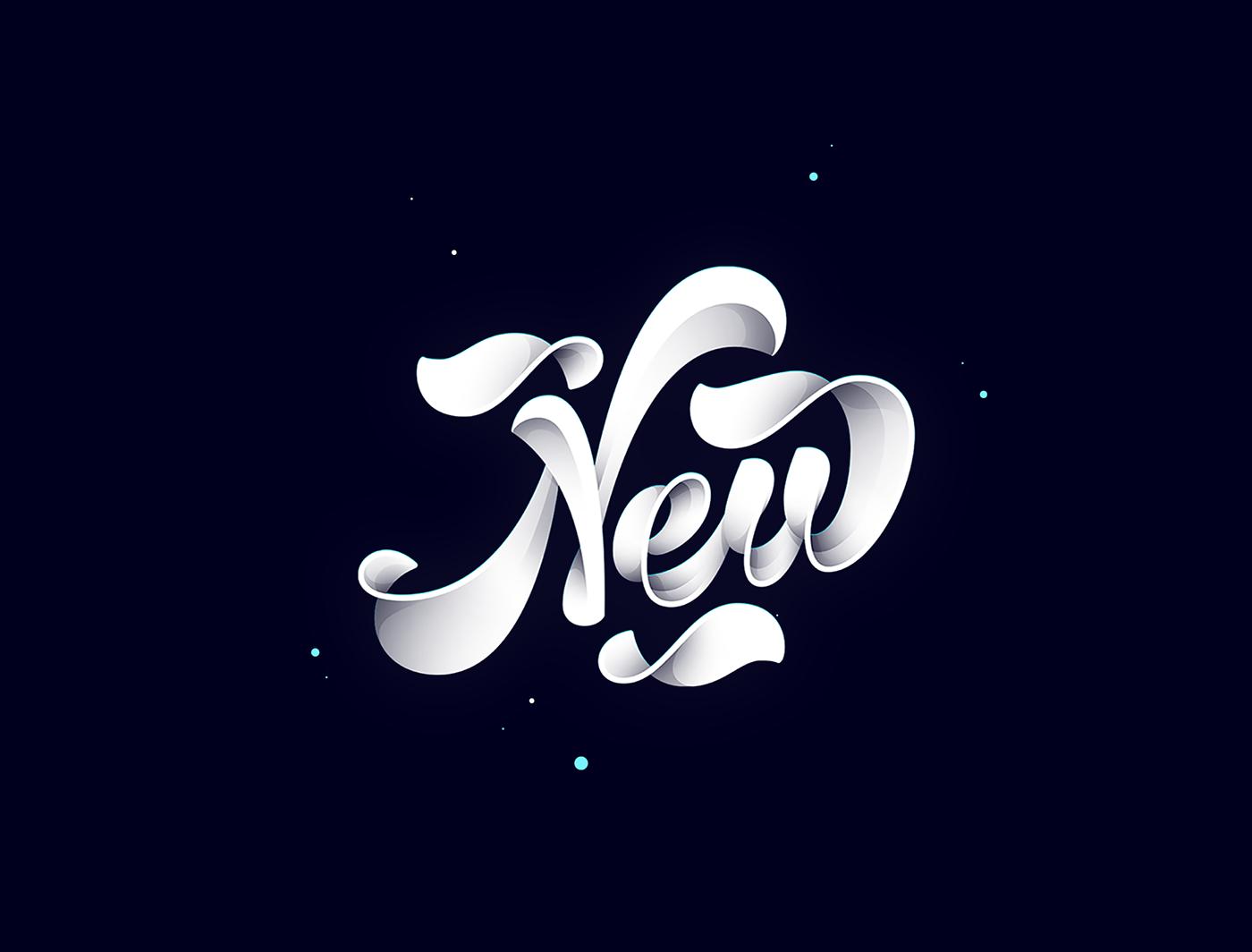 Jonathan Ortiz动感立体风格字体设计