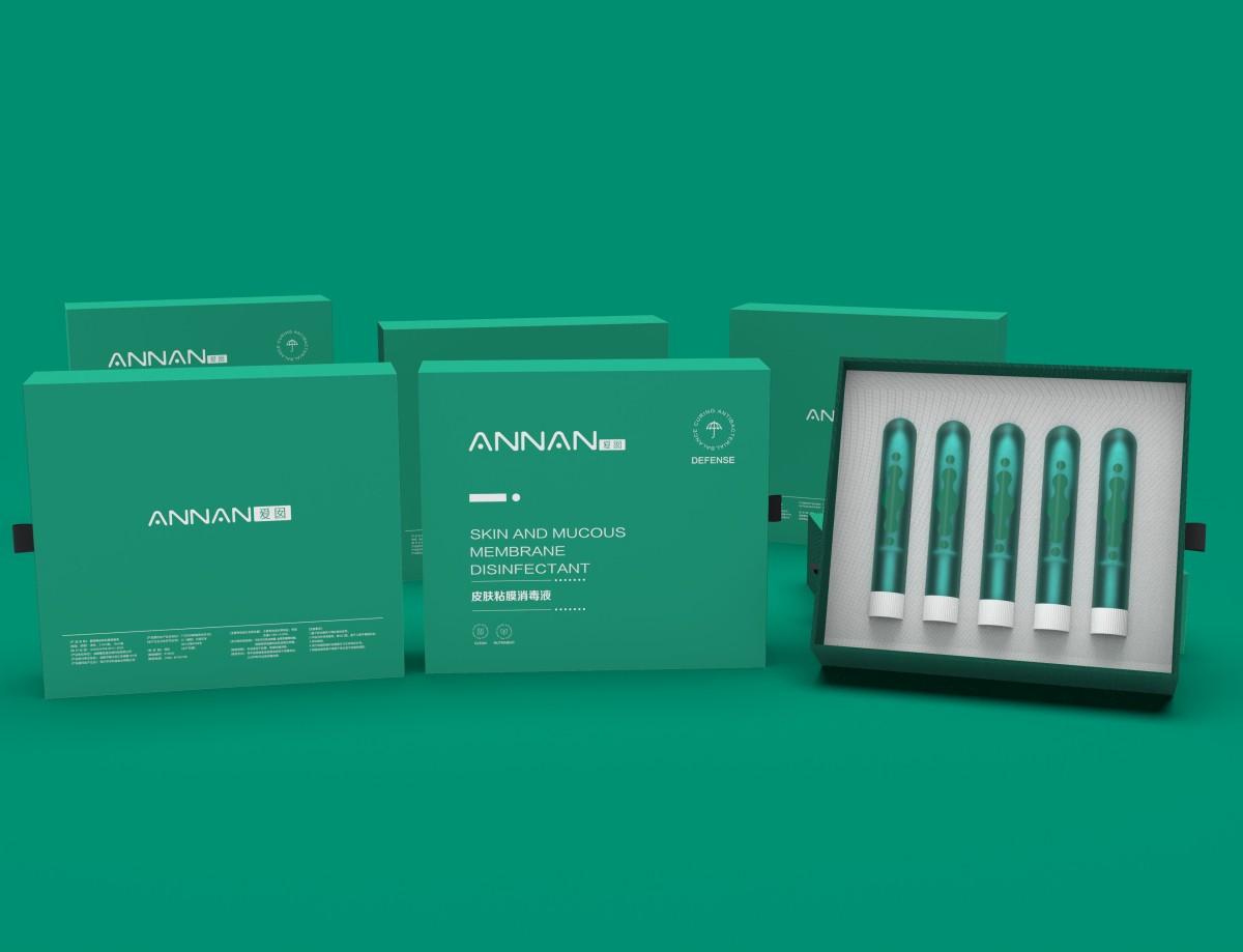 爱囡皮肤黏膜消毒液包装设计