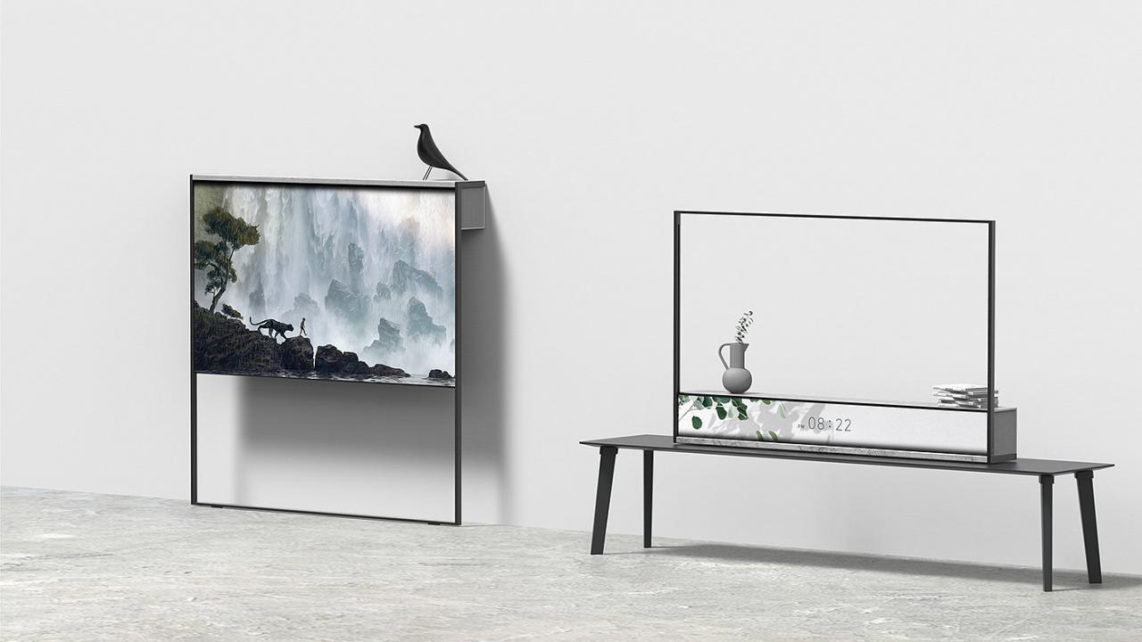 电视,可卷曲,创意,