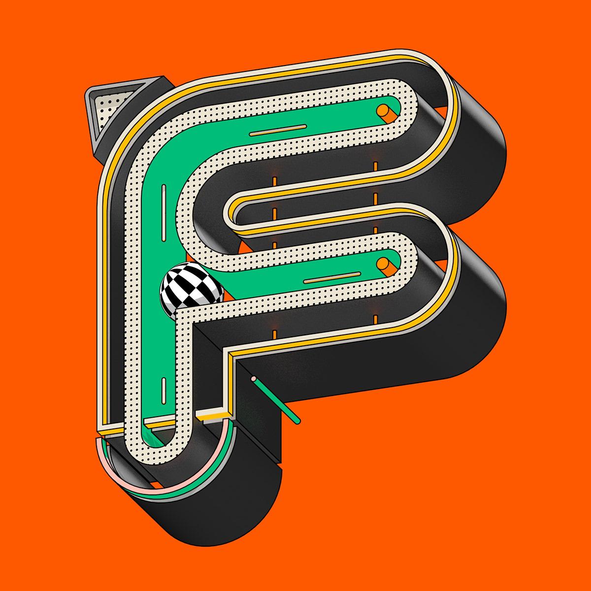 36 days of type:Tenski立体感字母设计